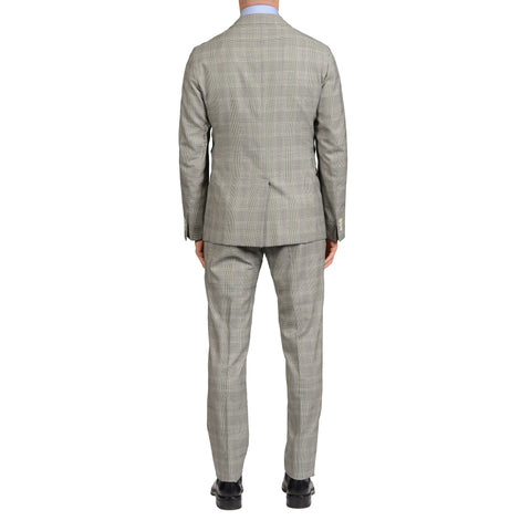 "BOGLIOLI Milano ""Dover"" Gray Plaid Wool-Silk Unlined Suit EU 50 NEW US 40"