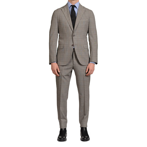 "BOGLIOLI Milano ""Eton"" Gray Prince of Wales Wool Unlined Summer-Spring Suit NEW"