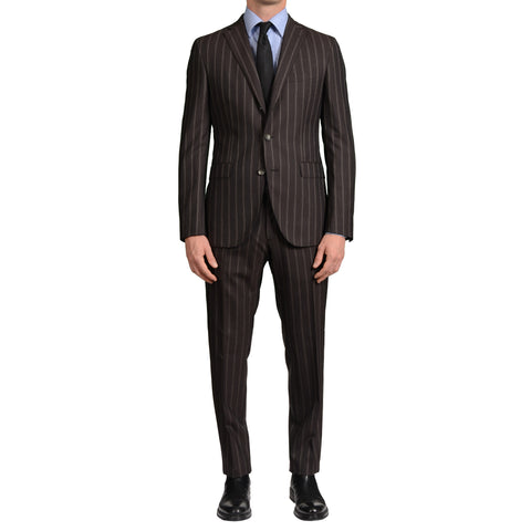 "BOGLIOLI Milano ""Hampton"" Brown Striped Wool Suit EU 50 NEW US 40"