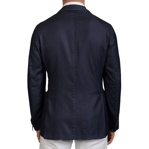 "BOGLIOLI Milano ""K.Jacket"" Blue Cashmere-Silk Unlined Blazer Jacket 56 NEW US 46"