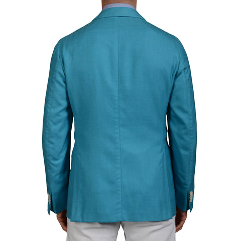 "BOGLIOLI Milano ""K.Jacket"" Blue Herringbone Cashmere-Cotton Blazer Jacket NEW"