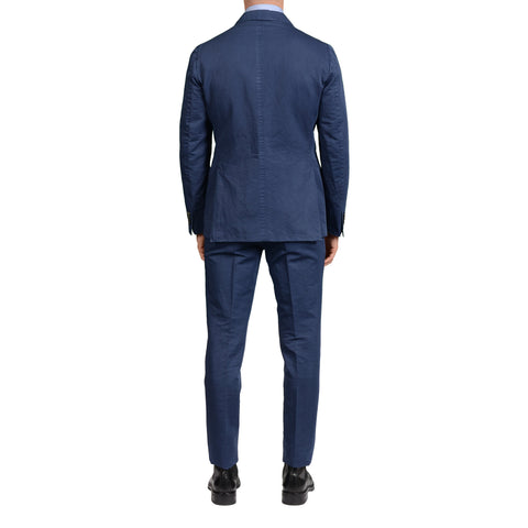 "BOGLIOLI Milano ""K.Jacket"" Blue Linen-Cotton Unlined Suit NEW"