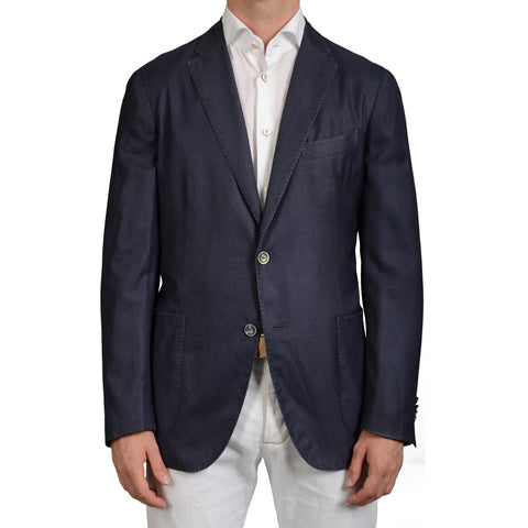 "BOGLIOLI Milano ""K.Jacket"" Blue Silk-Cashmere Unlined Blazer Jacket 54 NEW US 44"