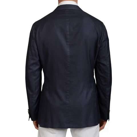 "BOGLIOLI Milano ""K.Jacket"" Blue Silk-Cashmere Unlined Blazer Jacket Sports Coat"