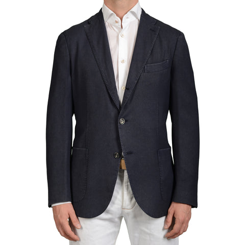 "BOGLIOLI Milano ""K.Jacket"" Blue Textured Wool Unlined Blazer Jacket Sports Coat"