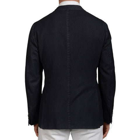 "BOGLIOLI Milano ""K.Jacket"" Blue Textured Wool Unlined Blazer Jacket 48 NEW US 38"