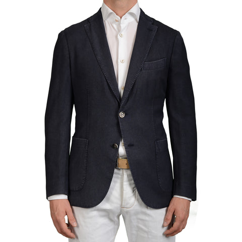 "BOGLIOLI Milano ""K.Jacket"" Blue Textured Wool Unlined Blazer Sports Coat Jacket"
