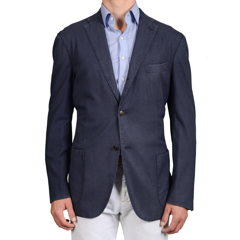 "BOGLIOLI Milano ""K.Jacket"" Blue Wool Unlined Blazer Jacket EU 56 NEW US 46 Long"