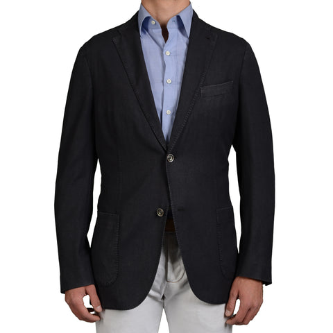 "BOGLIOLI Milano ""K.Jacket"" Dark Blue Wool Unlined Blazer Jacket 54 NEW US 44 Lon"