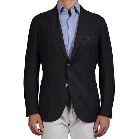 "BOGLIOLI Milano ""K.Jacket"" Dark Blue Wool Unlined Blazer Jacket EU 54 NEW US 44"