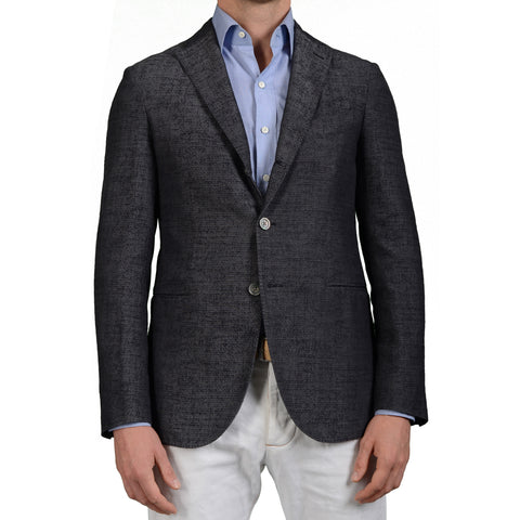 "BOGLIOLI Milano ""K.Jacket"" Gray Silk-Cotton Unlined Blazer Jacket 48 NEW US 38"