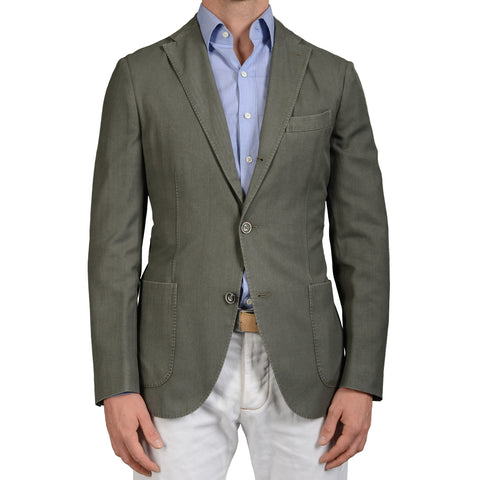 "BOGLIOLI Milano ""K.Jacket"" Green Wool Unlined Blazer Jacket Sports Coat NEW"