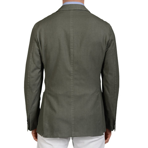 "BOGLIOLI ""K.Jacket"" Green Wool Unlined Blazer Jacket Sports Coat EU 60 NEW US 50"