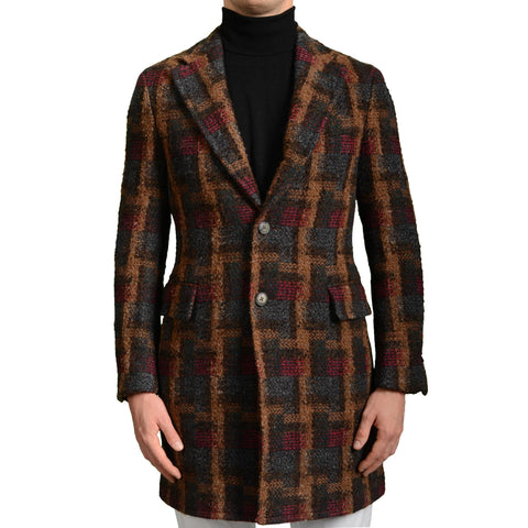 "BOGLIOLI Milano ""K.Jacket"" Multi-Color Plaid Wool Coat EU 48 NEW US 38 / S"