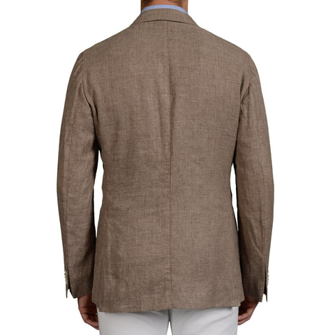 "BOGLIOLI Milano ""K.Jacket"" Sand Linen-Wool-Silk Unlined Blazer Jacket 52 NEW US"