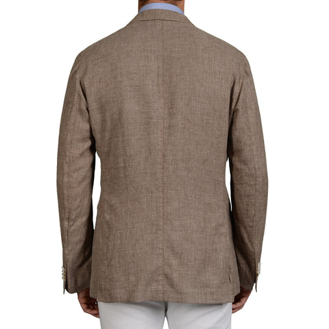 "BOGLIOLI Milano ""K.Jacket"" Sand Linen-Wool-Silk Unlined Jacket Blazer 52 NEW 42"
