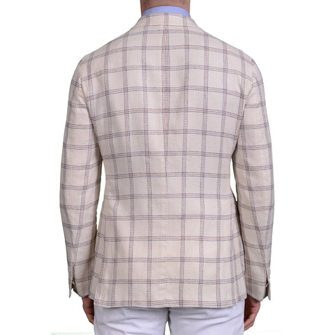 "BOGLIOLI Milano ""K. Jacket"" Off-White Linen-Cotton Unlined Jacket 50 NEW US 40"