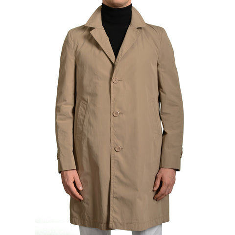 BOGLIOLI Milano Khaki Cotton Rain Overcoat EU 50 NEW US 40 / M