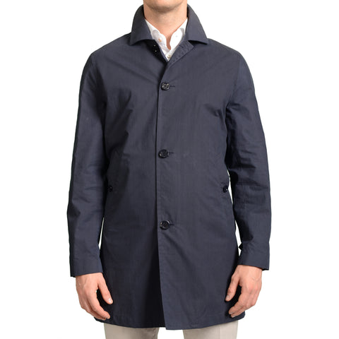 BOGLIOLI Milano Navy Blue Cotton Blend Jacket Coat EU 48 NEW US 38 / S