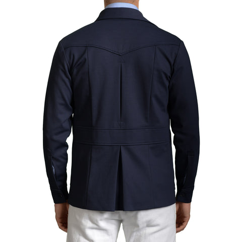 BOGLIOLI Milano Navy Blue Cotton Blend Unlined Coat Jacket EU 48 NEW US 38 / XS