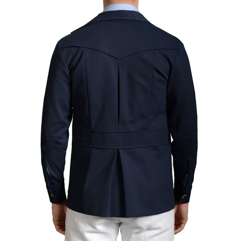 BOGLIOLI Milano Navy Blue Cotton Blend Unlined Jacket Coat EU 48 NEW US 38 / S