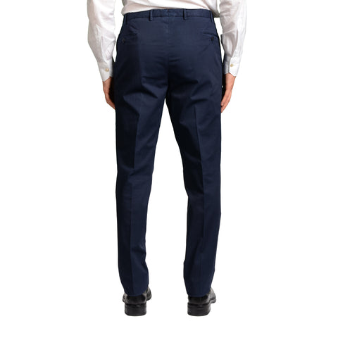 BOGLIOLI Milano Navy Blue Cotton Flat Front Stretch Slim Fit Pants 56 NEW US 40