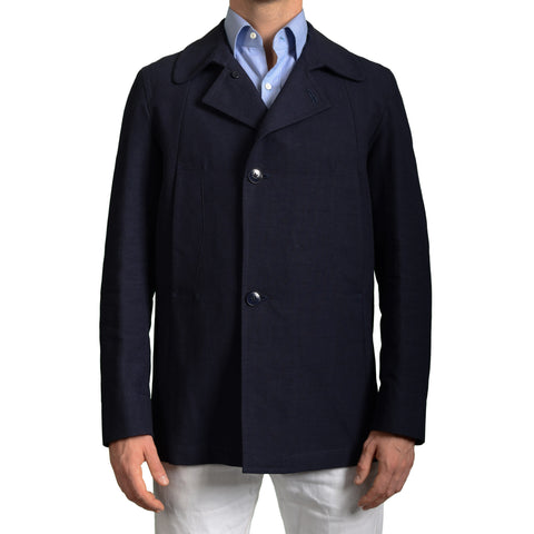 BOGLIOLI Milano Navy Blue Cotton Jacket Coat EU 48 NEW US 38 / S