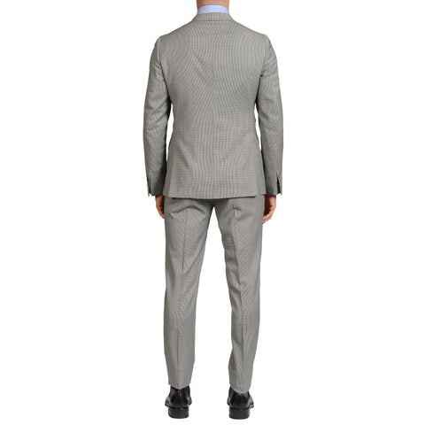 "BOGLIOLI Milano ""SFORZA"" Gray Houndstooth Wool Peak Lapel Suit EU 48 NEW US 38"