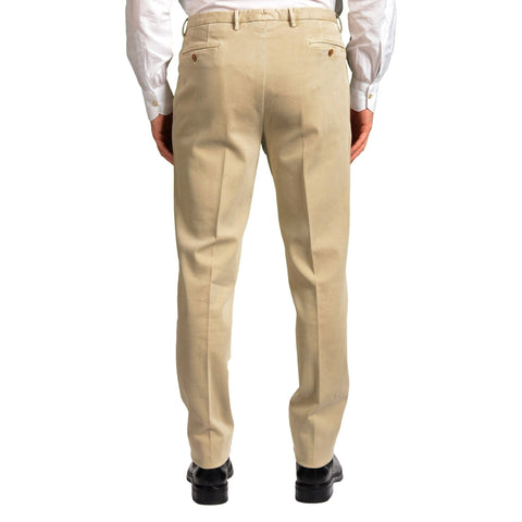 "BOGLIOLI Milano ""Wear"" Beige Cotton Twill Flat Front Slim Fit Pants 54 NEW US 38"