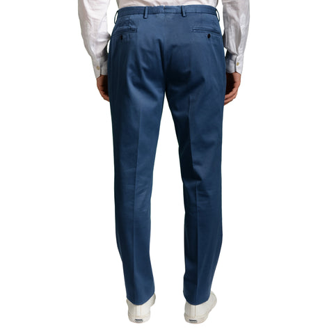 "BOGLIOLI Milano ""Wear"" Blue Cotton Flat Front Stretch Slim Fit Pants 52 NEW 36"