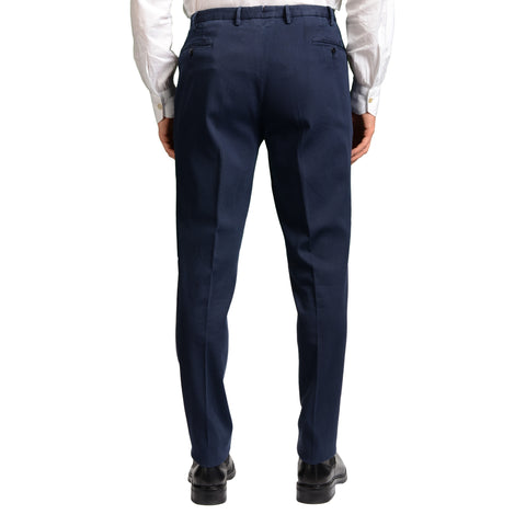 "BOGLIOLI Milano ""Wear"" Blue Cotton Flat Front Stretch Slim Fit Pants 56 NEW 40"