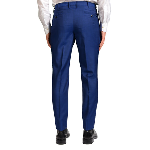 "BOGLIOLI Milano ""Wear"" Blue Wool Single Pleated Slim Fit Dress Pants EU 48 NEW US 32"