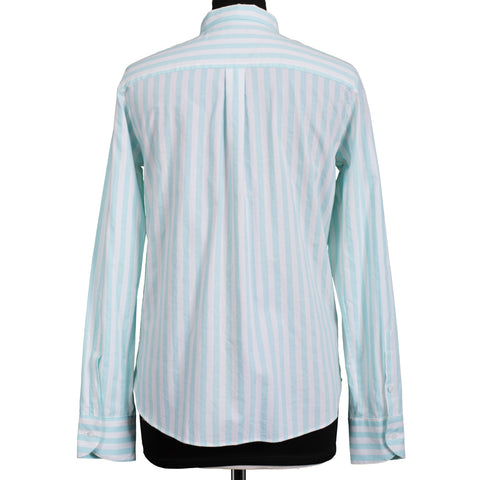 BOGLIOLI Milano White Striped Cotton Women Shirt Top IT 40 US 4