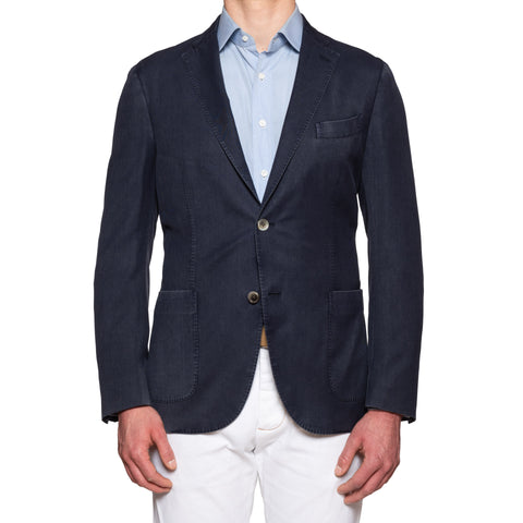 BOGLIOLI for Arthur & Fox K. Jacket Blue High-Performance Wool Jacket 52 NEW 42