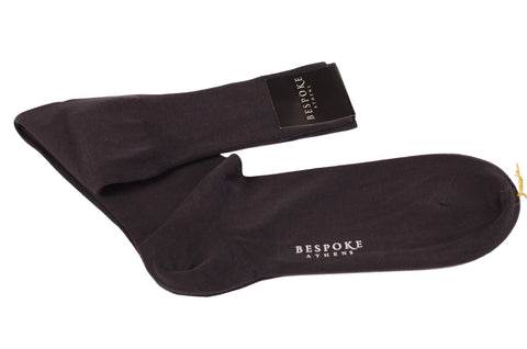BRESCIANI For BESPOKE ATHENS Anthracite Cotton Knee High Socks NEW Size L