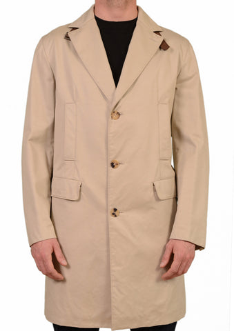BRIONI Solid Beige Cotton-Silk Loro PIana Storm System Rain Coat EU 50 NEW US 40 - SARTORIALE - 1