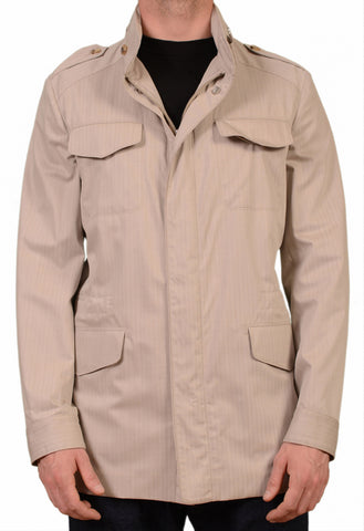 BRIONI Beige Wool Silk Water Resistant Hidden Hooded Safari Jacket 50 NEW US 40 - SARTORIALE - 1