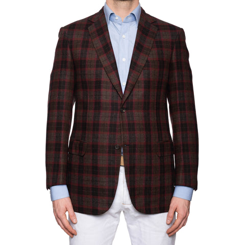 "BRIONI ""COLOSSEO"" Handmade Tartan Plaid Cashmere Jacket EU 50 NEW US 40"