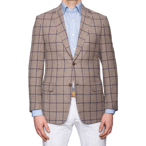 "BRIONI ""COLOSSEO"" Handmade Gray Wool-Silk-Cashmere Jacket EU 48 NEW US 38"