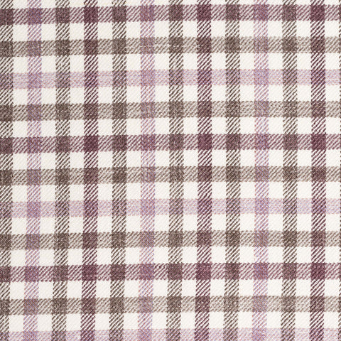 "BRIONI ""COLOSSEO"" Purple-Gray Plaid Wool-Silk-Linen Jacket NEW Long Fit"