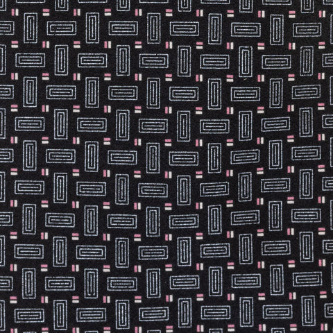 BRIONI Handmade Black Geometric Silk Tie NEW
