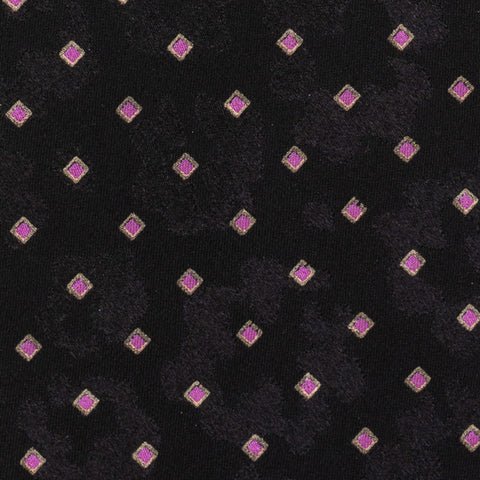 BRIONI Handmade Black Square Dot Silk Tie NEW