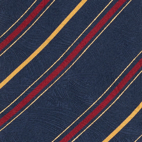 BRIONI Handmade Blue Striped Silk Tie Pocket Square Set NEW