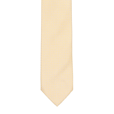 BRIONI Handmade Cream Plaid Silk Tie NEW