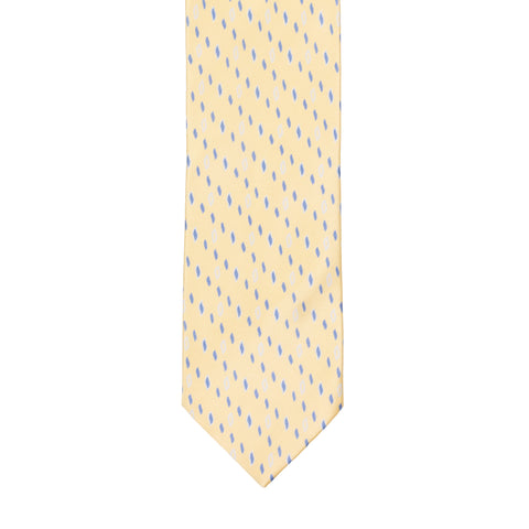 BRIONI Handmade Cream Patterned Silk Tie NEW