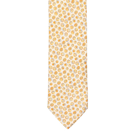 BRIONI Handmade Cream Polka Dot Silk Tie NEW