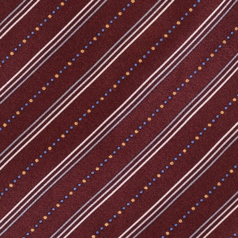 BRIONI Handmade Burgundy Diagonal Striped Silk Tie Pocket Square Set NEW