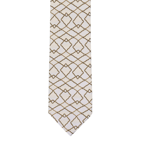 BRIONI Handmade Gray Abstract Silk Tie NEW