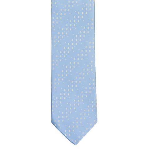 BRIONI Handmade Light Blue Micro-design Striped Silk Tie NEW