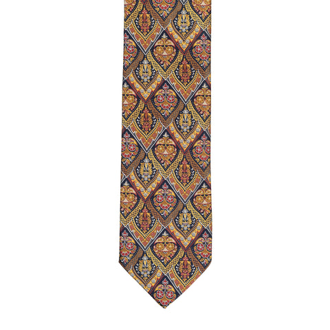 BRIONI Handmade Multi-color Floral Silk Tie NEW